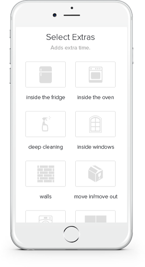 Image of Phone with Elevated Cleanings Maid App